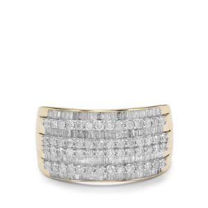 Diamond Ring in 9K Gold 1.20ct