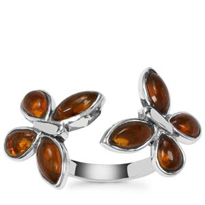 American Fire Opal Ring in Sterling Silver 3.28cts