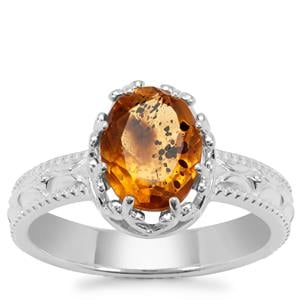 Burmese Amber Ring in Sterling Silver 0.65ct