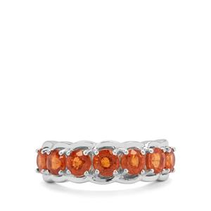 3.27ct Mandarin Garnet Sterling Silver Ring