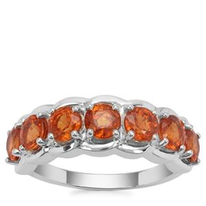 Mandarin Garnet Ring in Sterling Silver 3.27cts