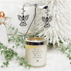 Angel Carousel Candle with White Jade