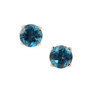 Marambaia London Blue Topaz Earrings in 9K Gold 5cts