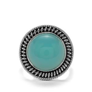 10ct Imperial Aqua Chalcedony Sterling Silver Aryonna Ring