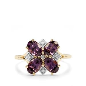 Mahenge Purple Spinel & Diamond 10K Gold Ring ATGW 2cts
