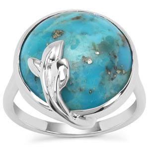 Bonita Blue Turquoise Ring in Sterling Silver 9.61cts
