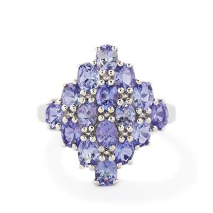 2.91ct AA Tanzanite Sterling Silver Ring