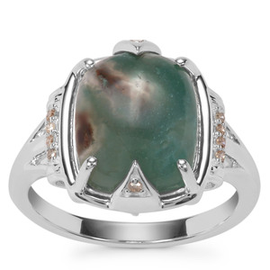 Aquaprase™ Ring with Champagne Diamond in Sterling Silver 4.85cts