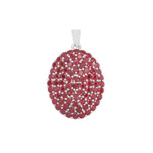 Malagasy Ruby Pendant in Sterling Silver 8.26cts (F)