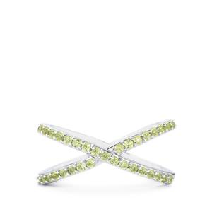 Peridot Ring in Sterling Silver 0.59cts