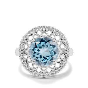 3.60ct Sky Blue Topaz Sterling Silver Ring