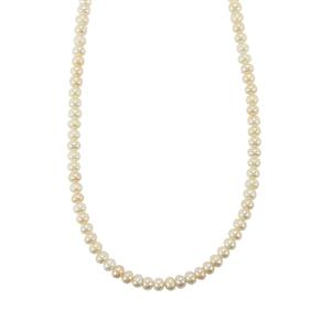Kaori Cultured Pearl Bead Necklace with Magnetic Lock in Sterling Silver
