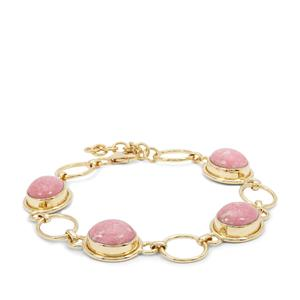Thulite Bracelet  in Gold Plated Sterling Silver 18.77cts