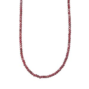 40.83ct Comeria Garnet Sterling Silver Bead Necklace