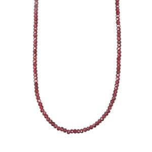 Comeria Garnet Bead Necklace in Sterling Silver 40.83cts