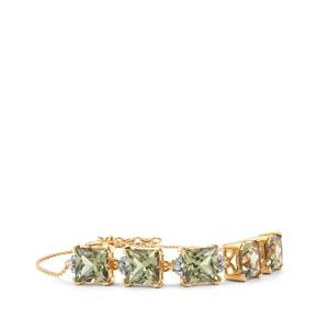 Csarite® Bracelet with Diamond in 18K Gold 14.39cts