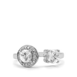 1.86ct Singida Tanzanian & White Zircon Sterling Silver Ring