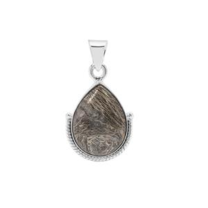Feather Pyrite Pendant in Sterling Silver 16cts