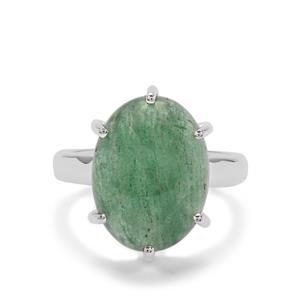 10ct Kiwi Quartz Sterling Silver Aryonna Ring