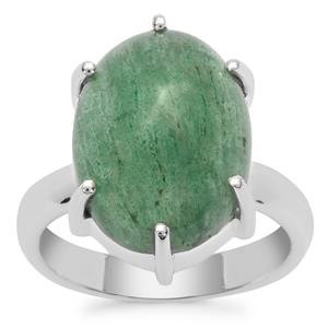 Kiwi Quartz Ring in Sterling Silver 10cts