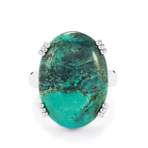 17ct Tibetan Turquoise Sterling Silver Aryonna Ring