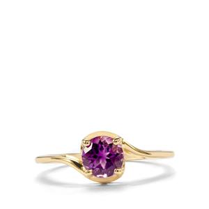0.73ct Moroccan Amethyst 10K Gold Ring