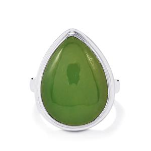 Nephrite Jade Ring in Sterling Silver 13cts