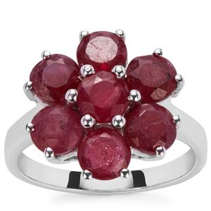 3.10ct Thai Ruby Sterling Silver Ring (F)