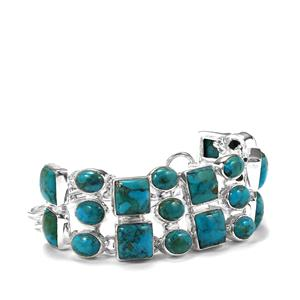Sonora Turquoise Bracelet in Sterling Silver 39.61cts