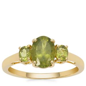 Vesuvianite Ring in 9K Gold 1.74cts
