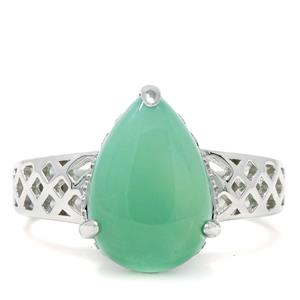 Szklary Chrysoprase Ring in Sterling Silver 3.98cts