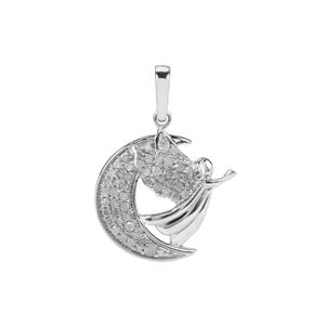 Diamond Pendant in Sterling Silver 0.34ct