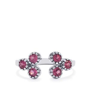 0.87ct Rhodolite Garnet Sterling Silver Ring