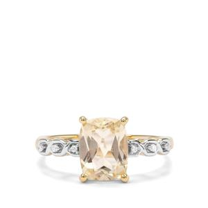 Serenite & Diamond 9K Gold Ring ATGW 2.09cts