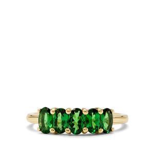 1.25ct Tsavorite Garnet 9K Gold Ring