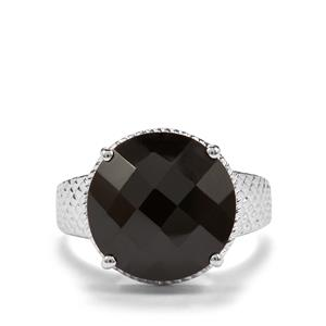 11.22ct Black Spinel Sterling Silver Ring
