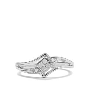 1/20ct Diamond Sterling Silver Ring