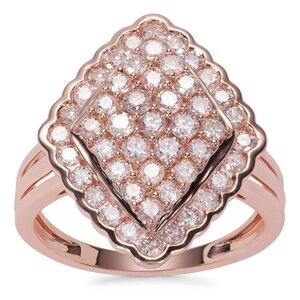 Pink Diamond Ring in 9K Rose Gold 1.48cts