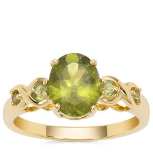 Vesuvianite Ring in 9K Gold 2.19cts