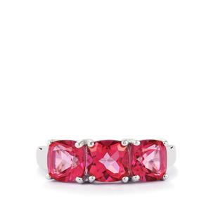 3.66ct Mystic Pink Topaz Sterling Silver Ring