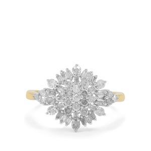 3/4ct Diamond 9K Gold Tomas Rae Ring