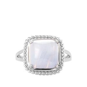4.51ct Blue Lace Agate Sterling Silver Ring