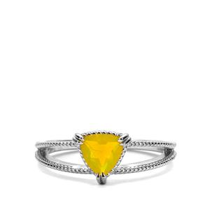 Ethiopian Yellow Opal Ring in Sterling Silver 0.45ct