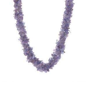 Tanzanite Necklace in Sterling Silver 379.10cts