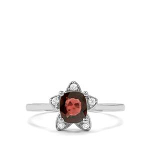 Burmese Multi-Colour Spinel Ring with White Zircon in Sterling Silver 1.20cts