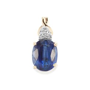 Daha Kyanite Pendant with Diamond in 9K Gold 2.59cts