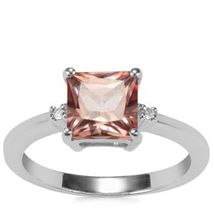 Galileia Topaz Ring with White Topaz in Sterling Silver 2.14ct
