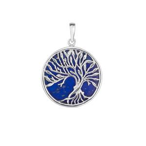 Sar-i-Sang Lapis Lazuli Tree of Life Pendant in Sterling Silver 14cts
