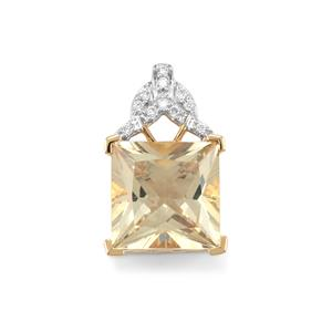 Serenite & Diamond 18K Gold Lorique Pendant MTGW 5.52cts