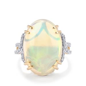 Ethiopian Opal & Diamond 18K Gold Lorique Ring MTGW 10.52cts